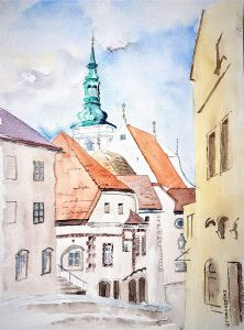 Pfarrkirche_Krems_Blick_Althangasse
