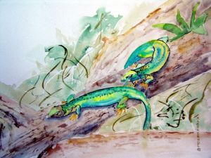 Smaragdeidechsenpaerchen